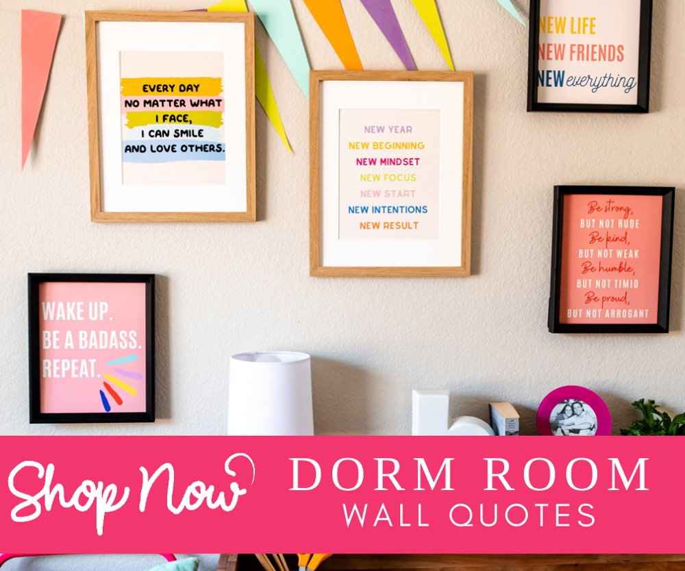 Back to school dorm wall quotes