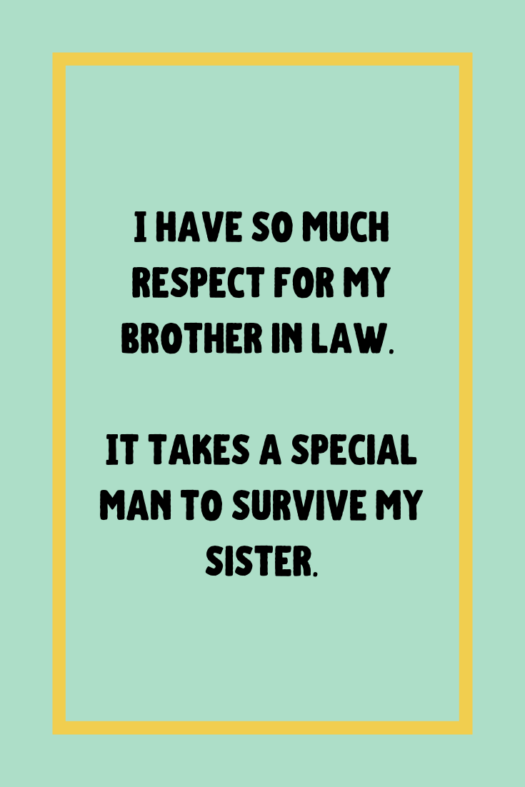 Cute Brother In Law Quotes