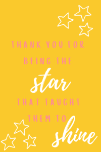 Teacher quotes for teacher thank you gifts
