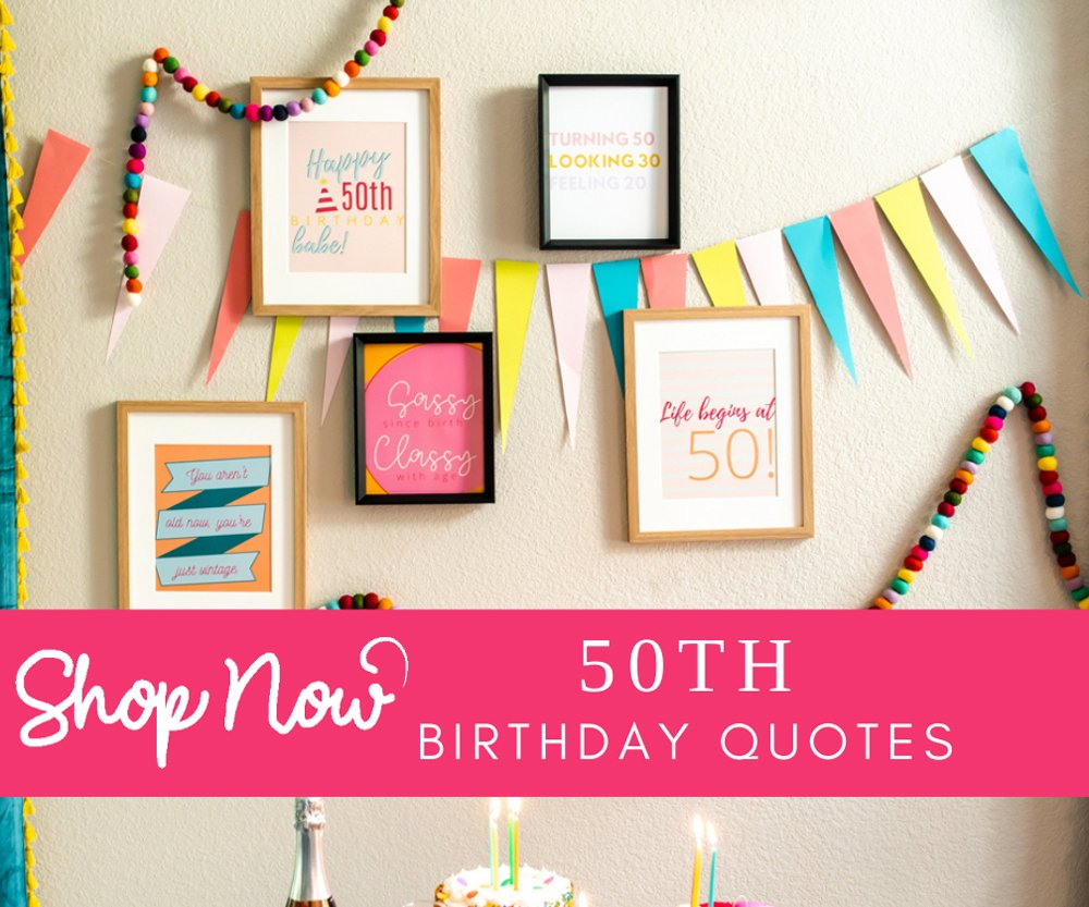 50th birthday party decor shop