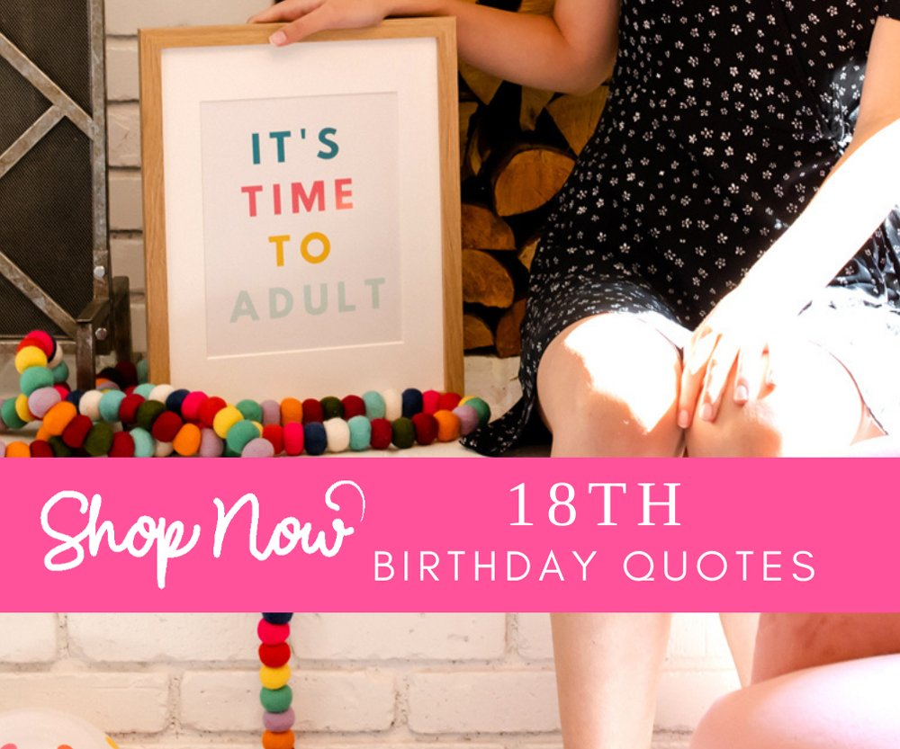 18th birthday printed quotes images