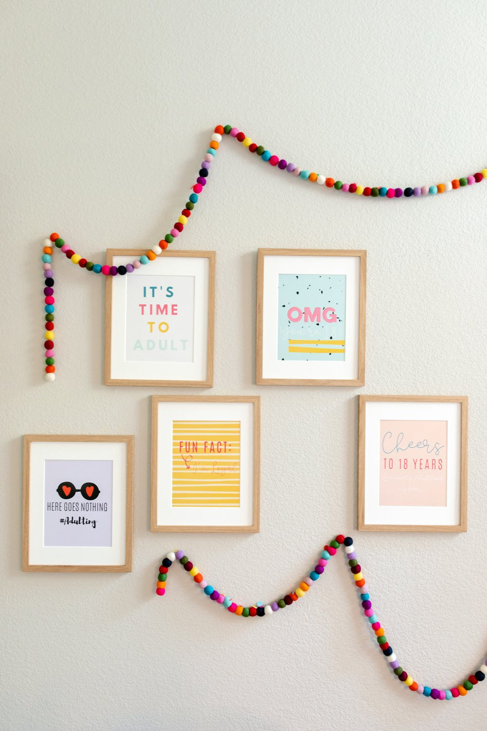 18th birthday party signs decor quote posters