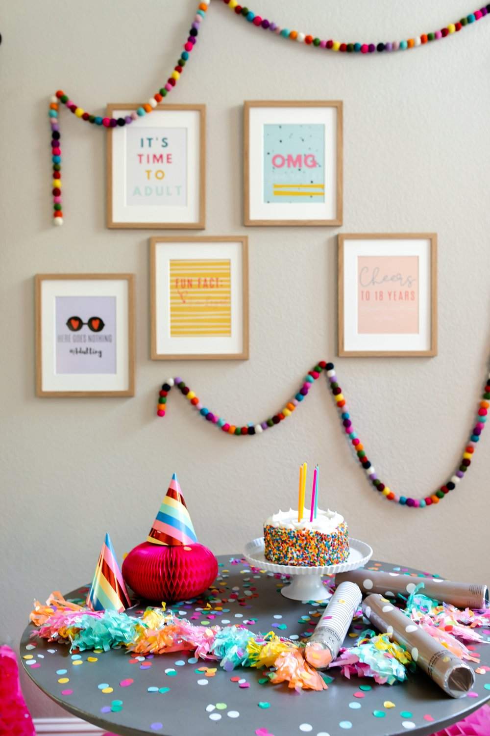 18th birthday party decor, turning 18 images