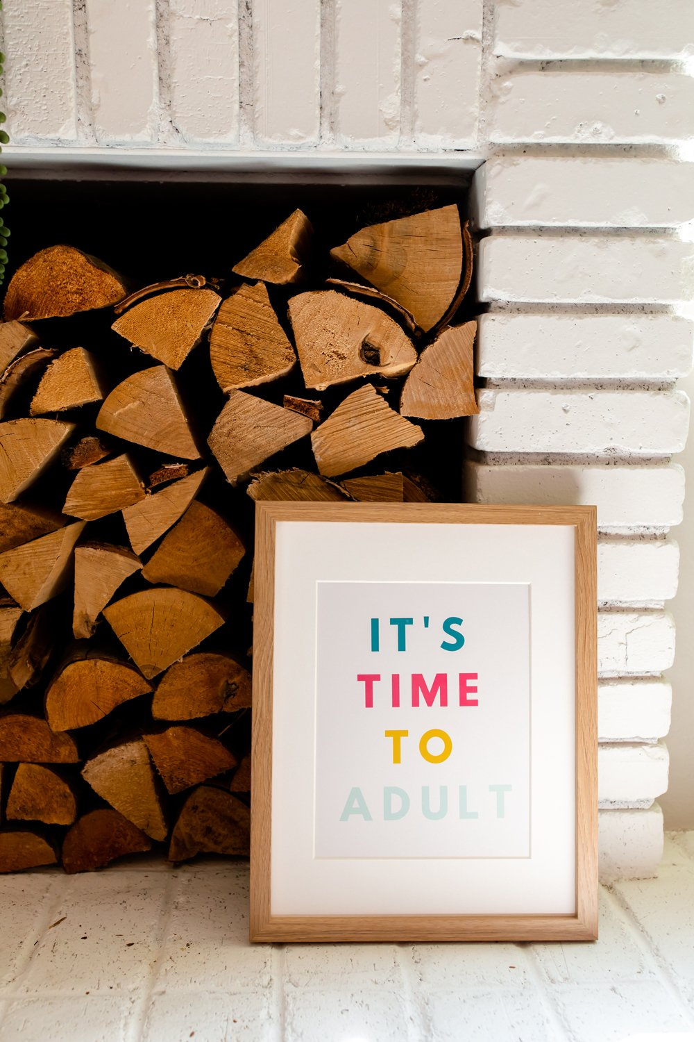 18th birthday quote decor Time To Adult funny signs