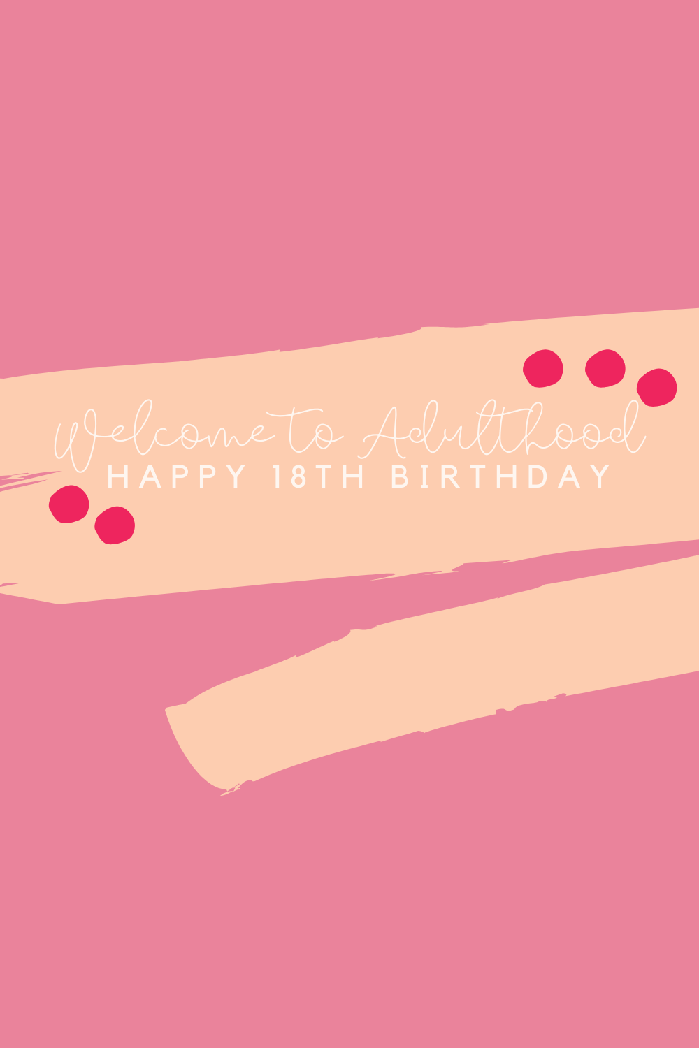 Happy 18th Birthday Welcome To adulthood Quotes