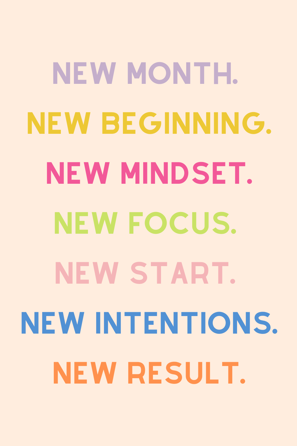 Quotes for a New Month
