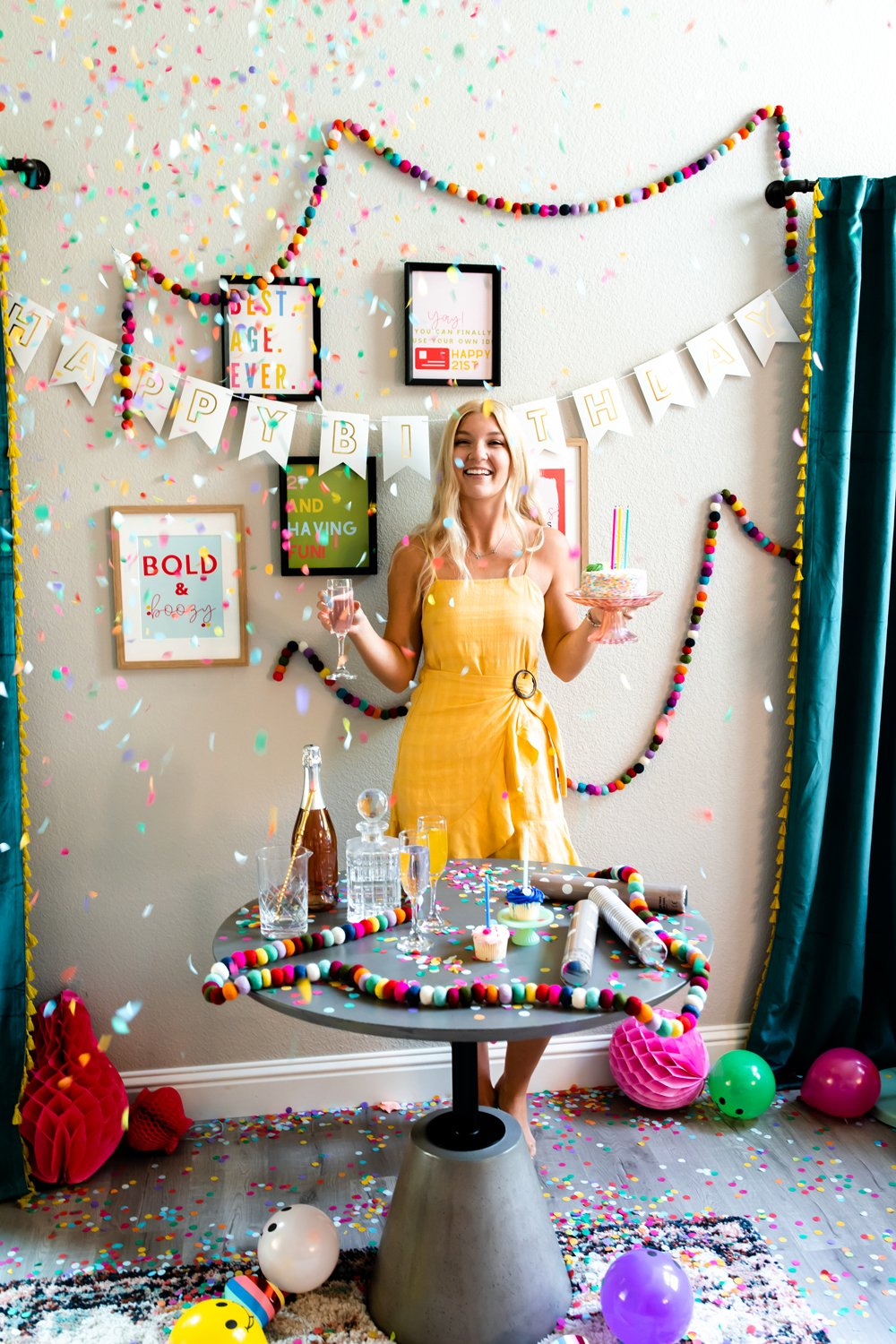 Best 21st birthday quotes party decor