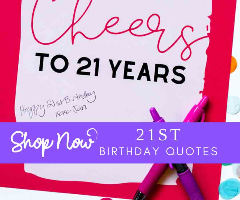 21st birthday party quotes signs decor