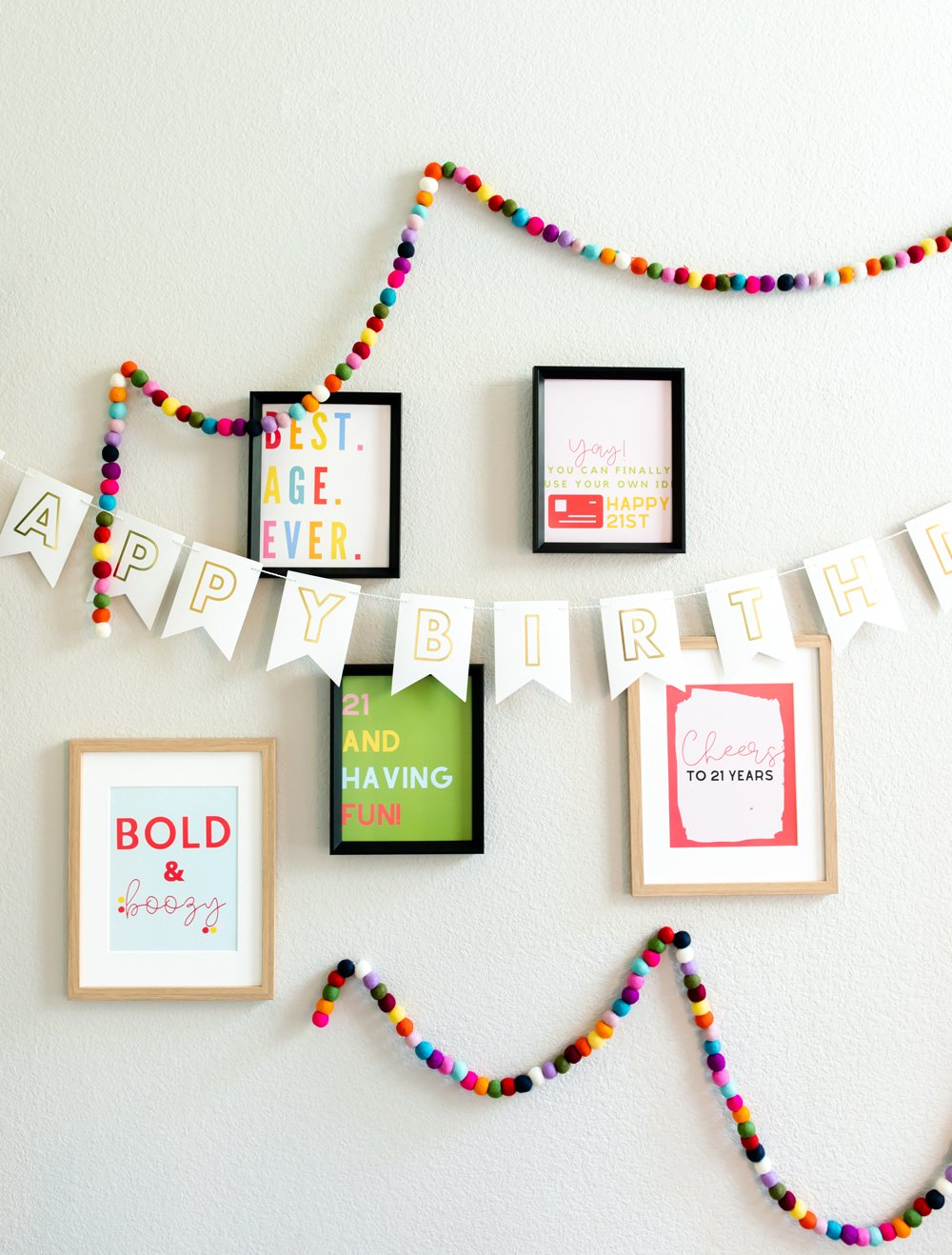 21st birthday quotes signs decor for 21st birthday party