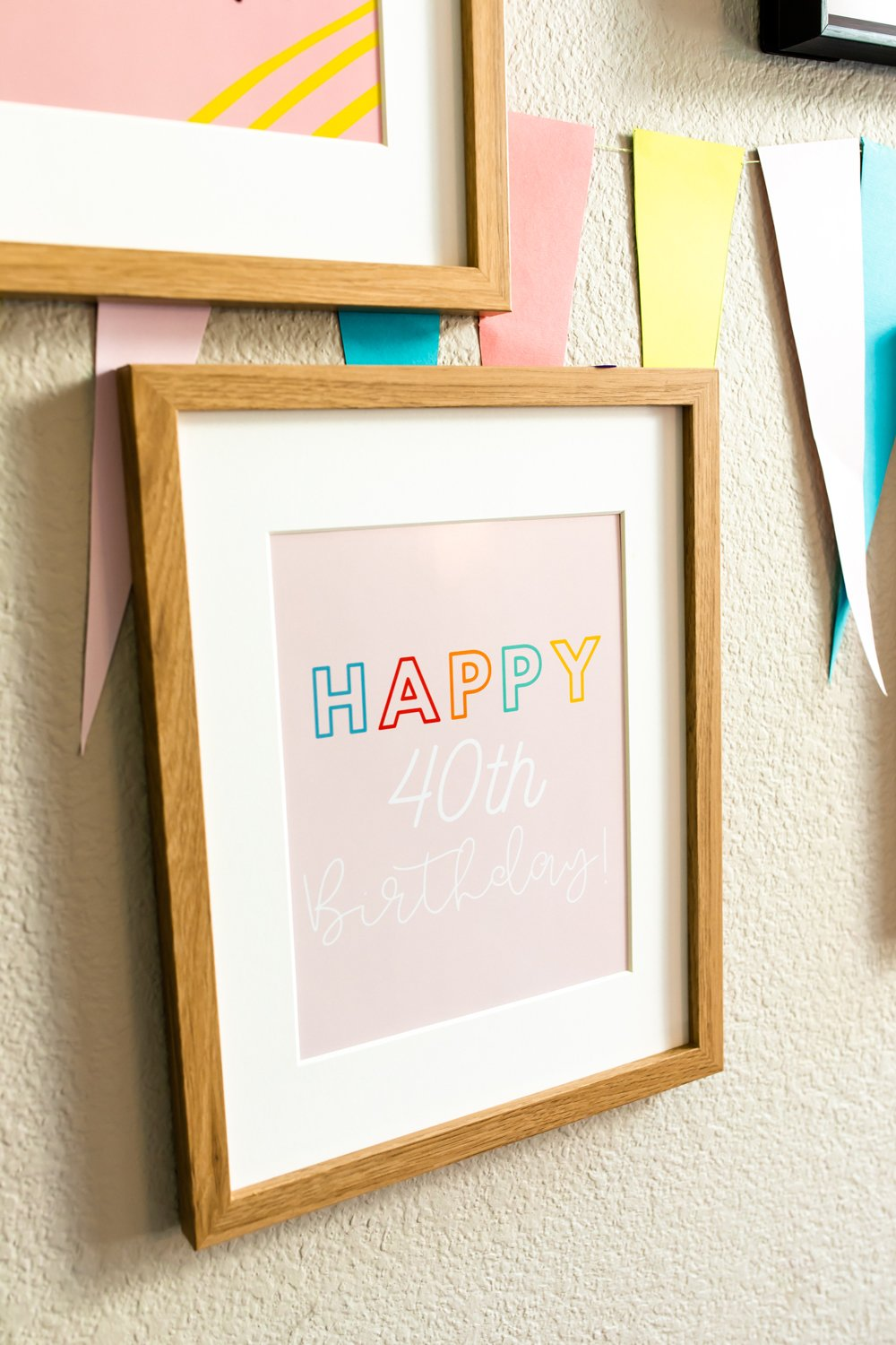 40th birthday quote decorations prints