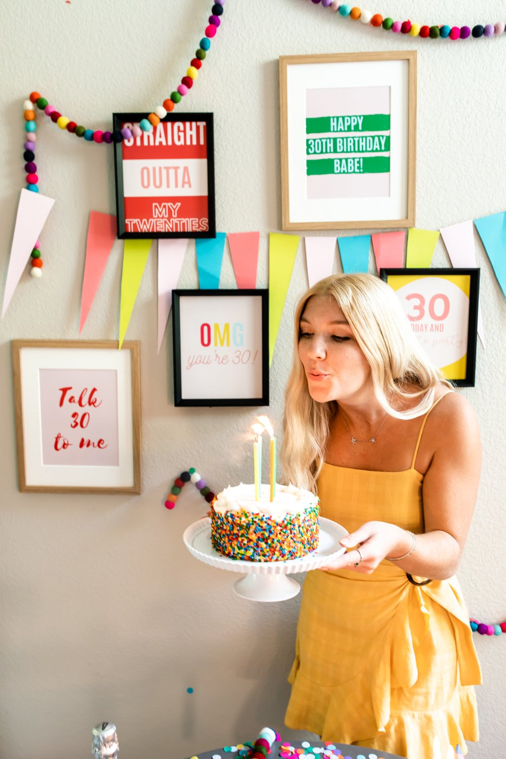 30th birthday party decorations & ideas quotes poster prints