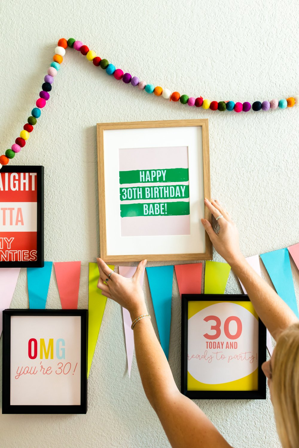 30th Birthday party quotes signs decor