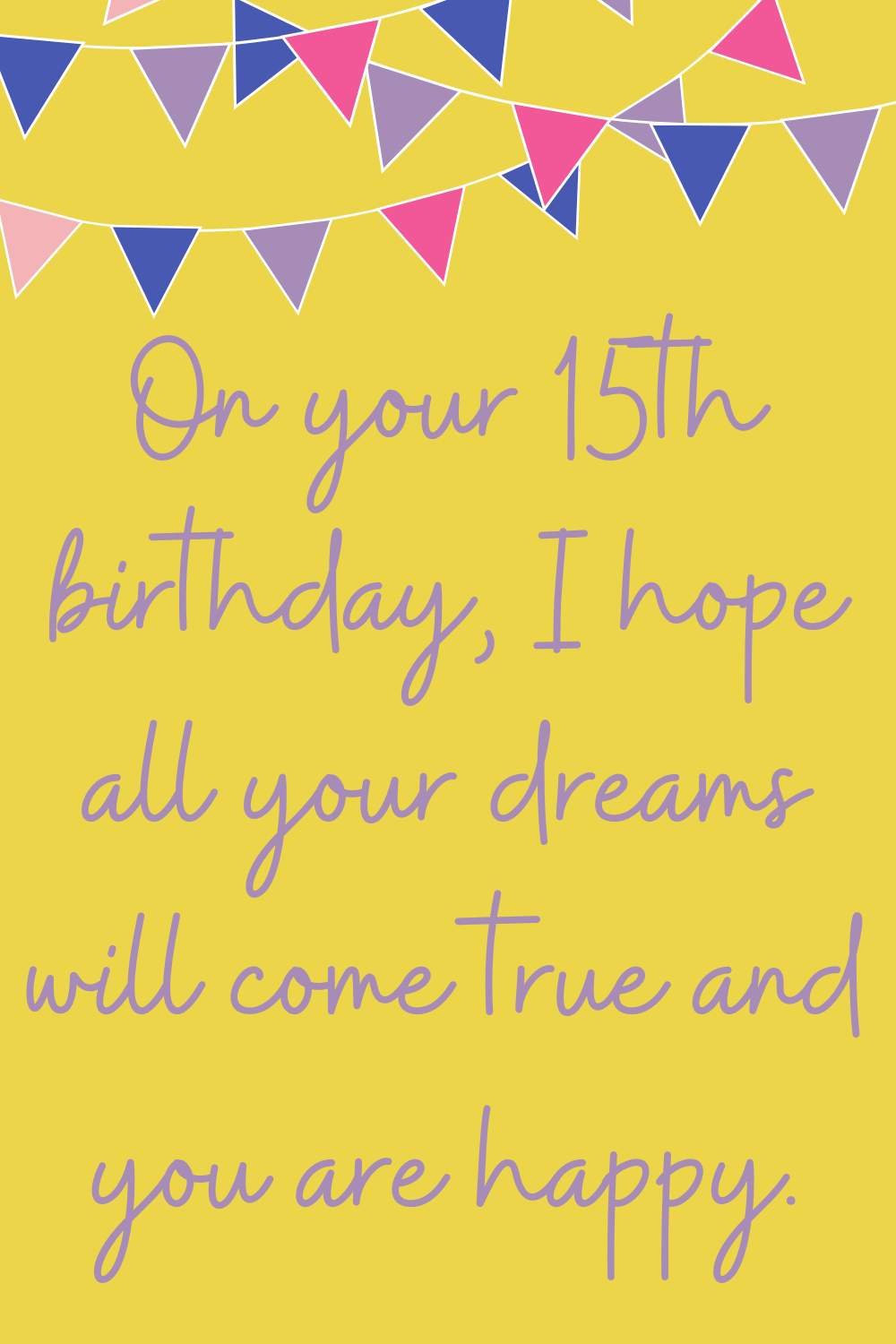 Birthday Images 15th quotes