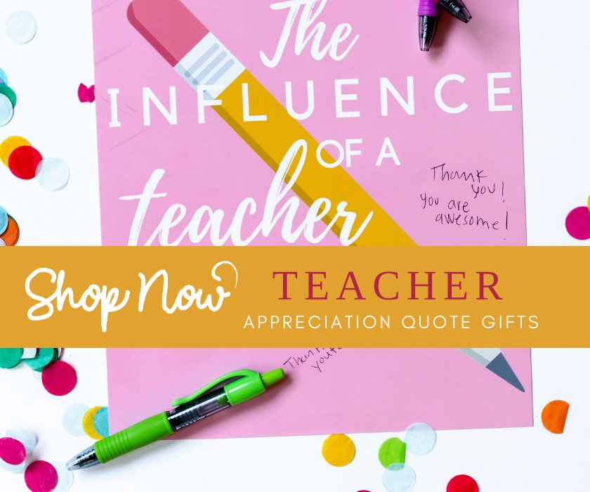 Teacher appreciation gifts prints