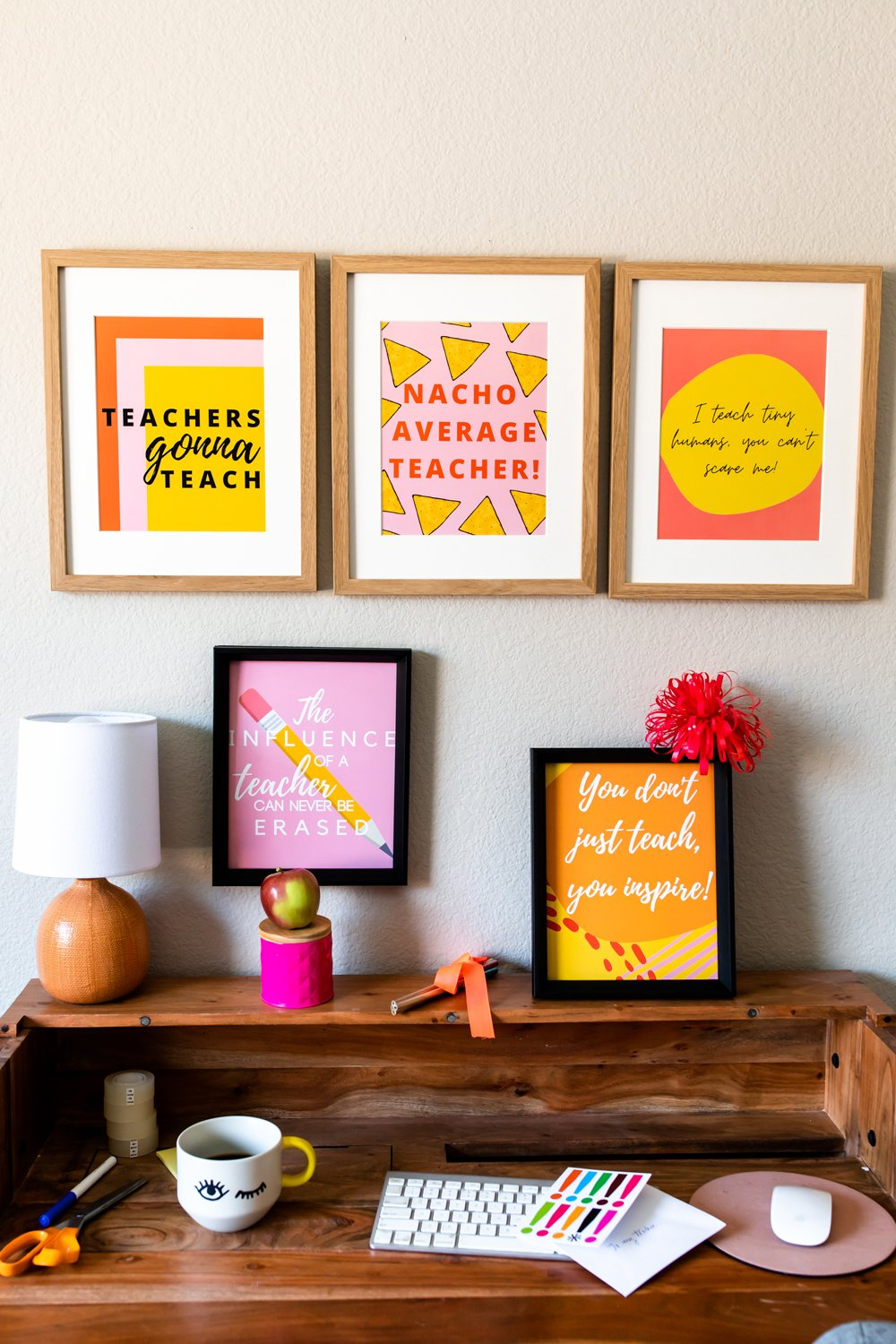 Teacher appreciation wall decor signs