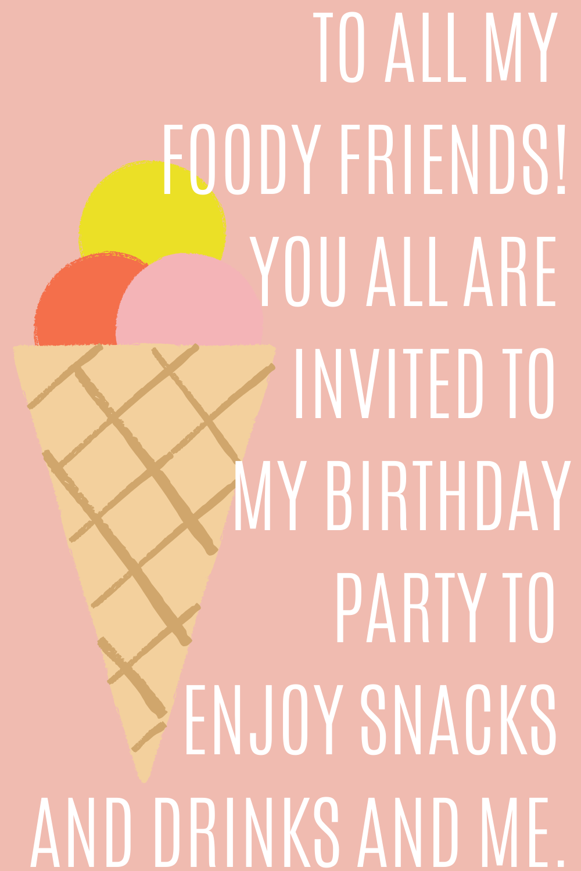 birthday quotes for invites