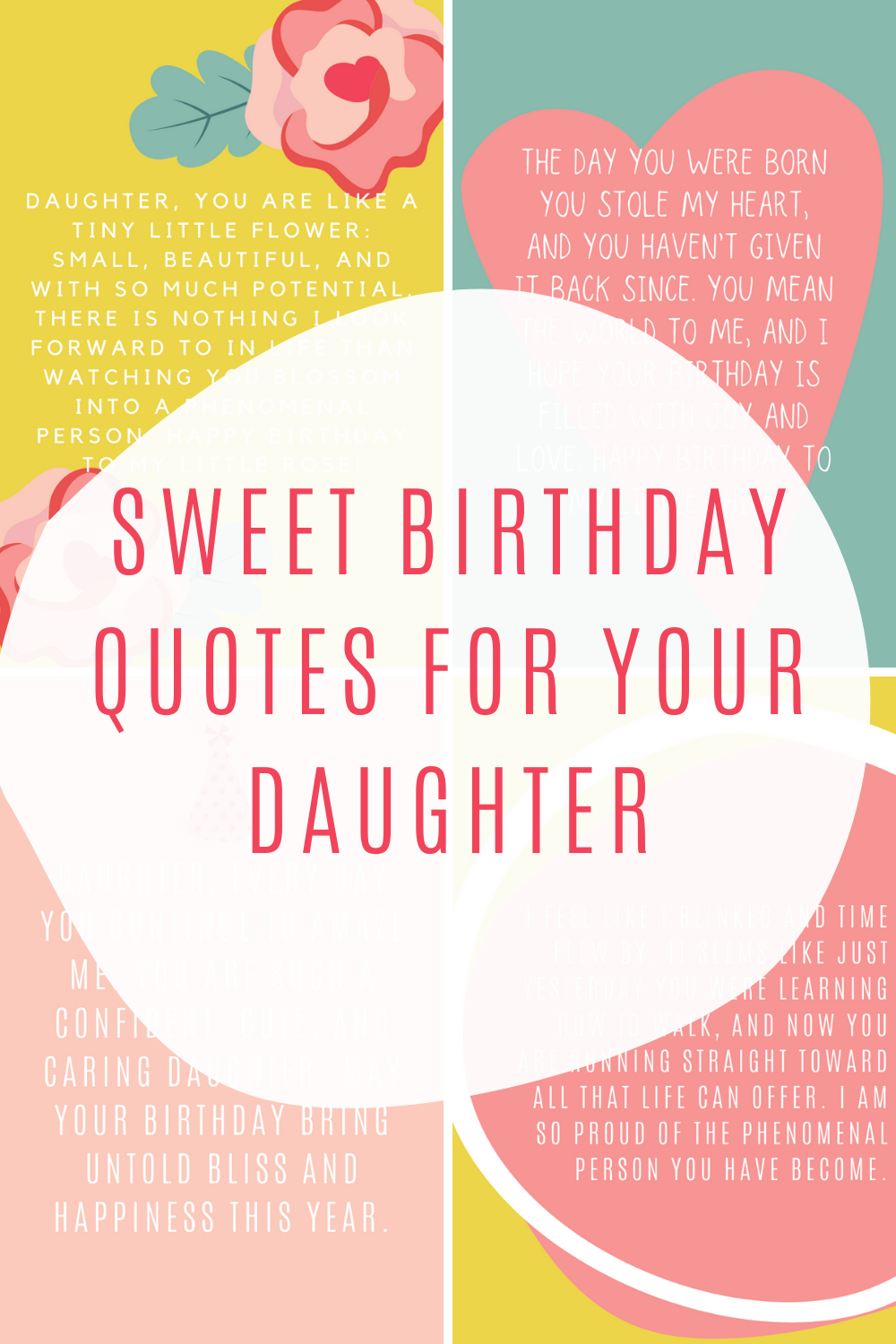 sweet birthday quotes for your daughter