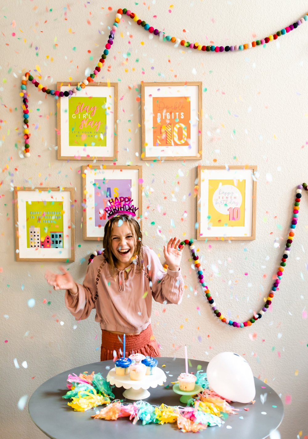 10th Birthday Party Decor Poster prints