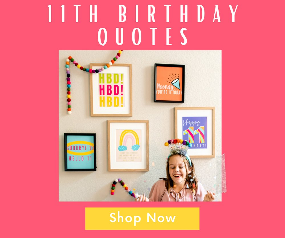 11th birthday party posters shop