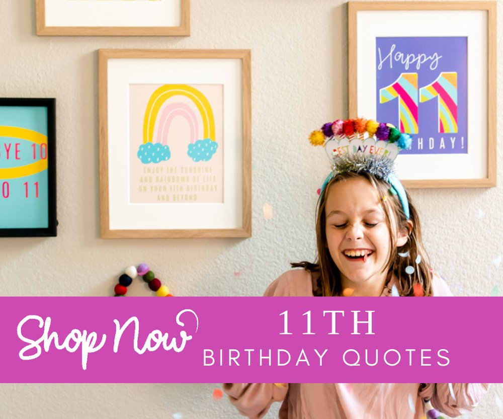 11th birthday Quotes shop
