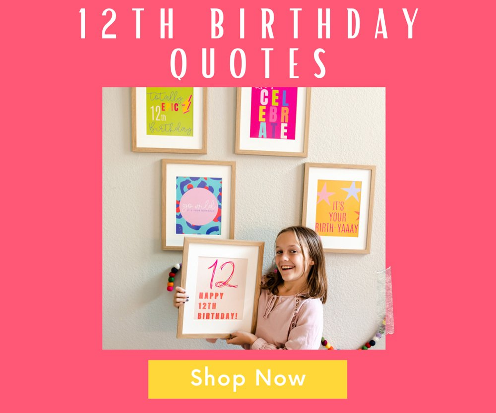 12th birthday Poster Prints download