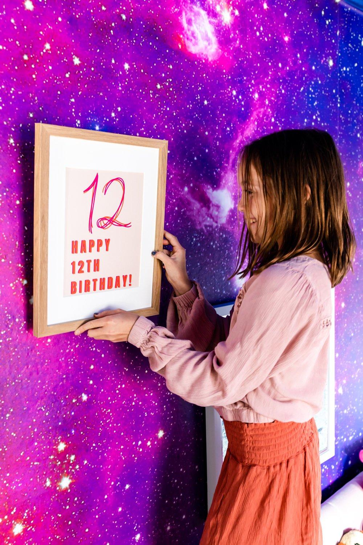 Tween Birthday Party Decor Posters