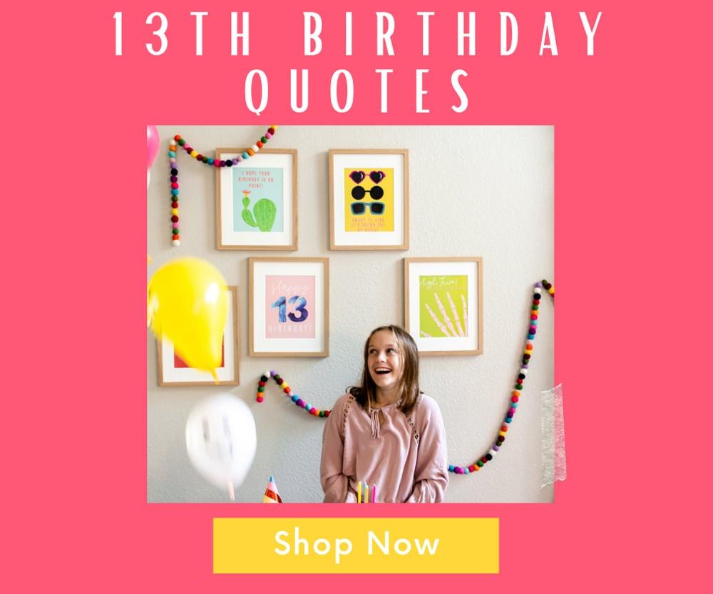 13th birthday party decor shop