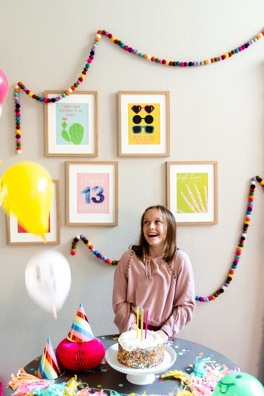 13th birthday party quotes prints decor