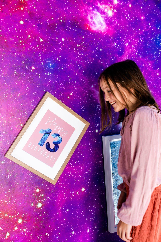 13th Birthday Tween Room Decor Party Prints