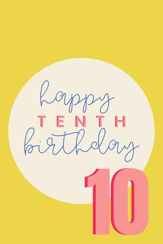 10th Birthday Quotes