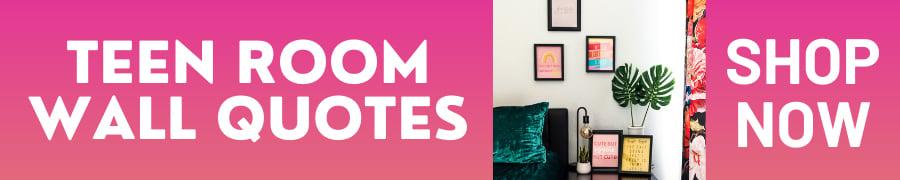 Teen room quotes decor shop