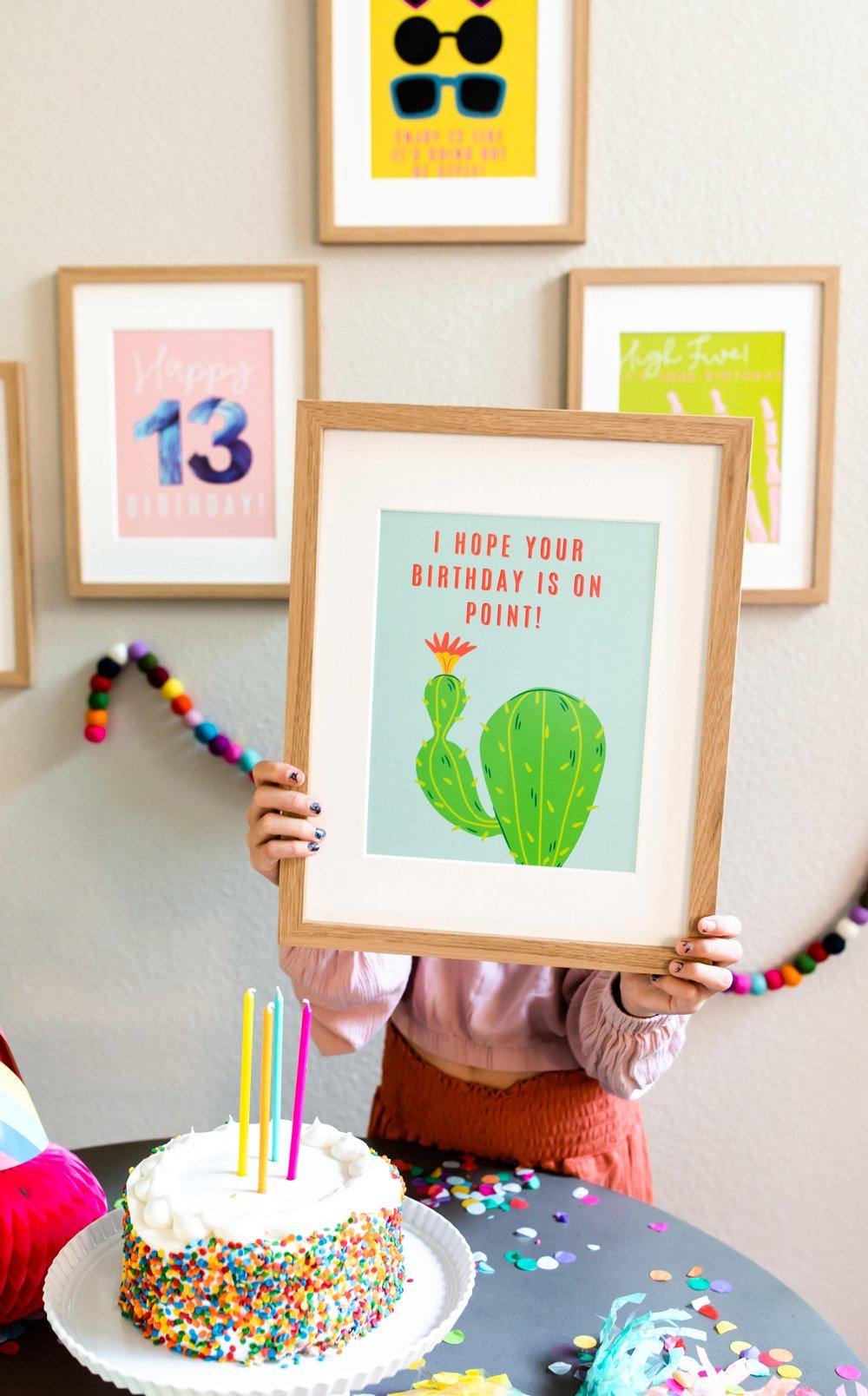 Cute Cactus Birthday Party Ideas. Birthday On Point Print