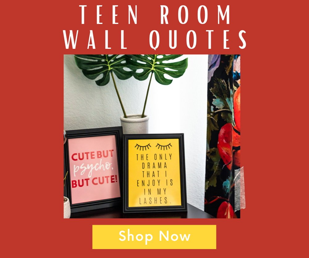 Teen birthday quotes prints posters