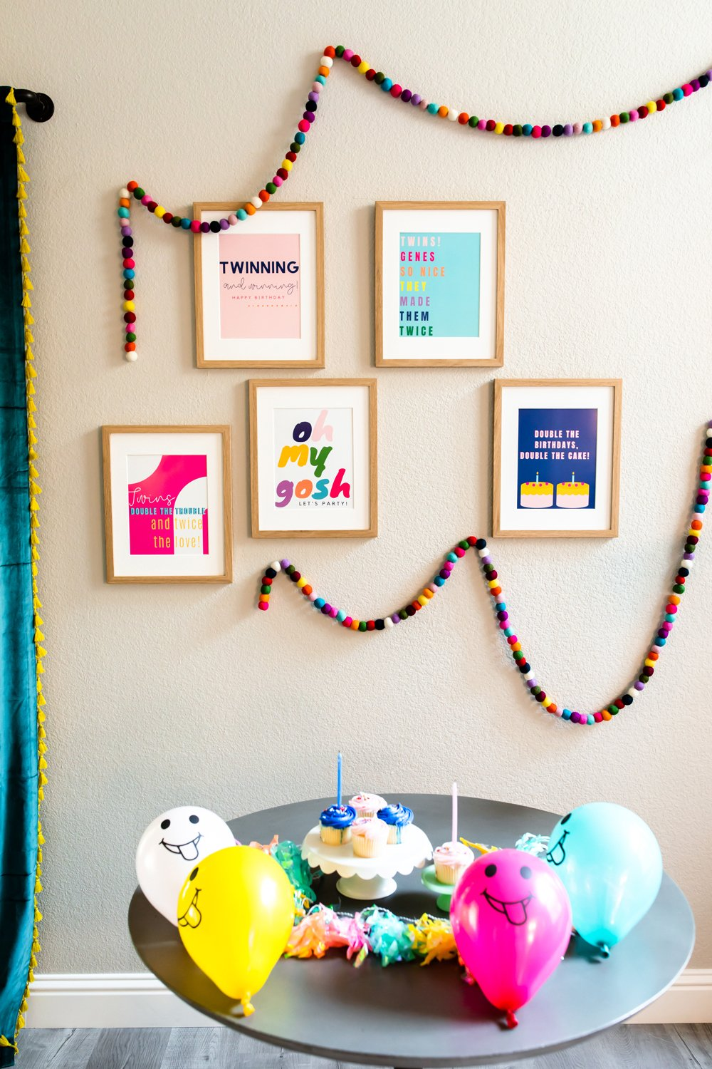 Tim birthday party decoration wall prints and banner