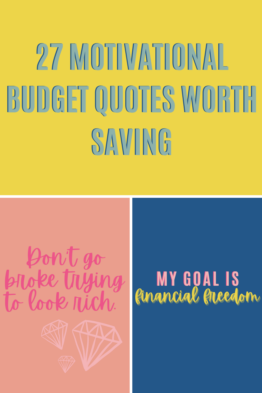 Motivational Budget Quotes