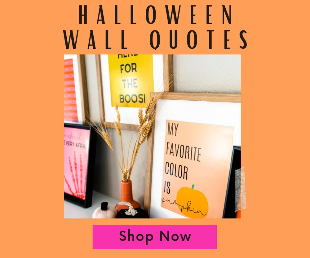Halloween quote prints download shop