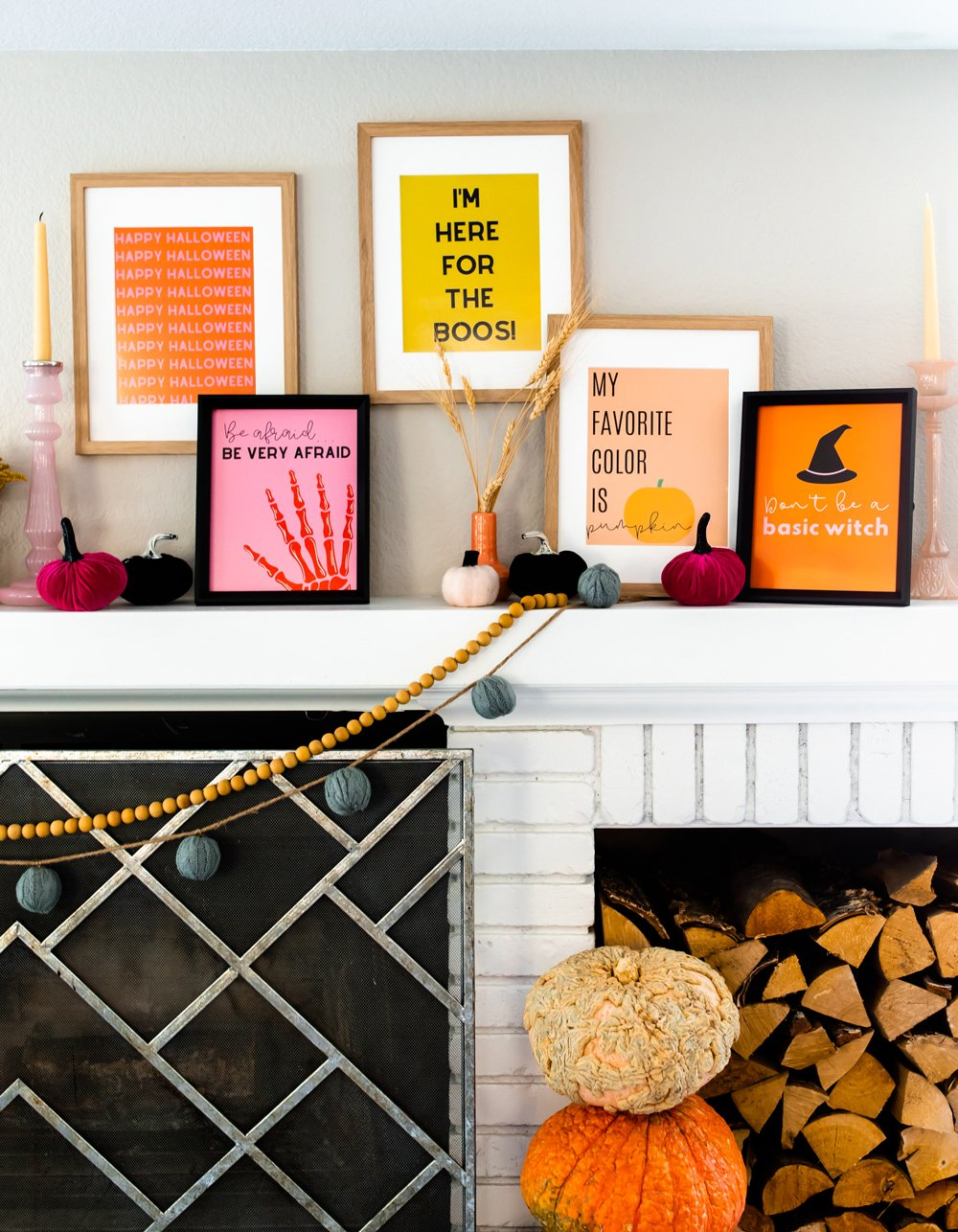 Halloween quotes wall decor for spooky party