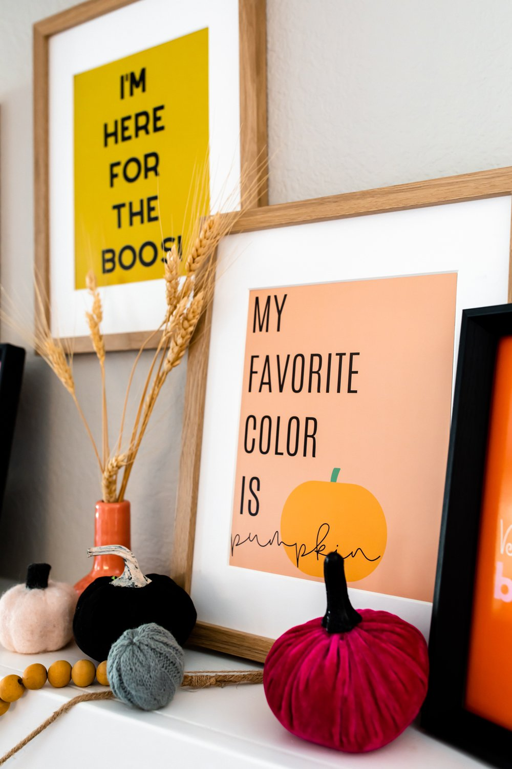 Funny Halloween quotes prints for party wall decor