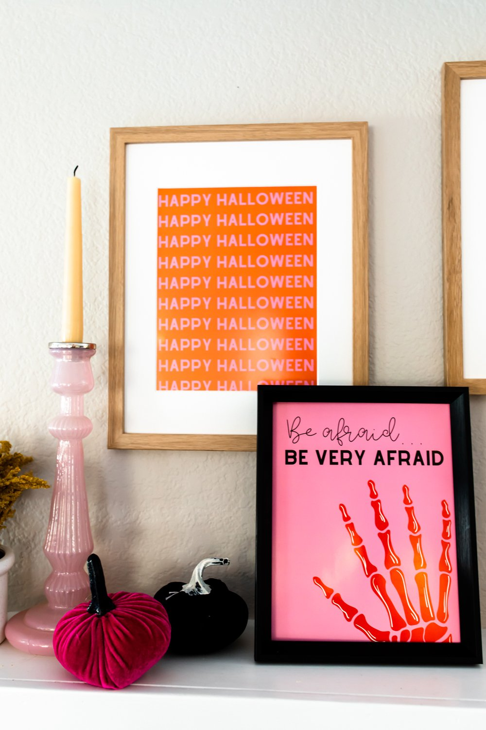 Halloween party decor poster prints