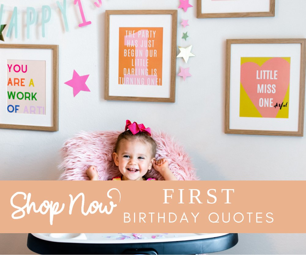 First birthday babe quotes to print download and buy