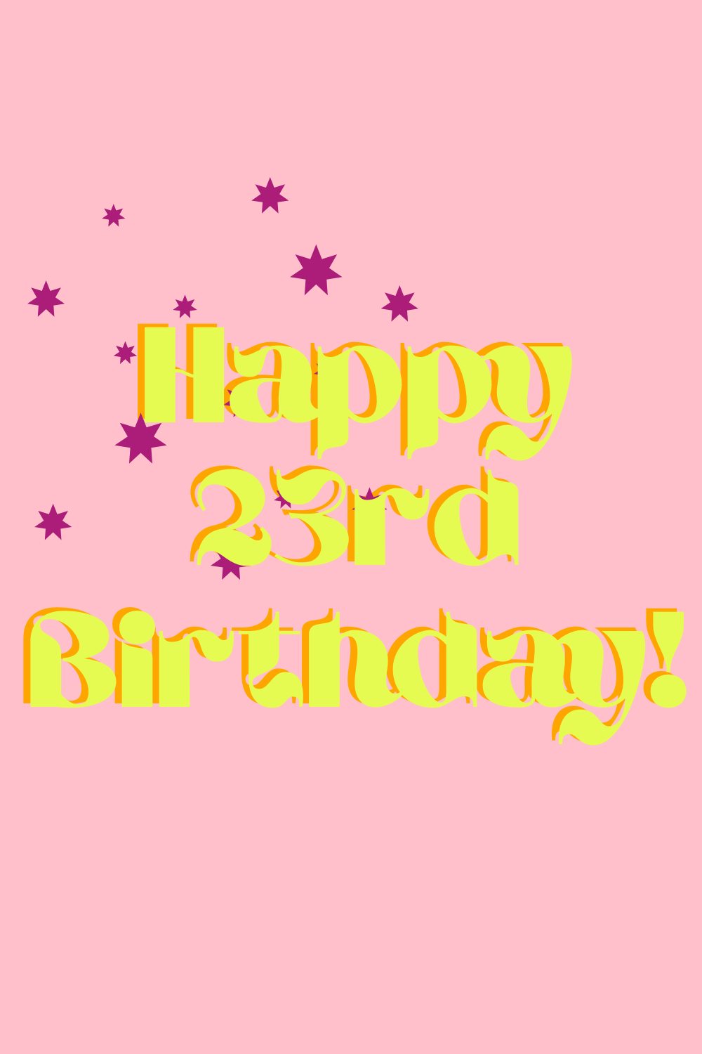 23rd Birthday Quotes & Images