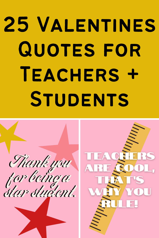 Valentine Quotes for Teachers