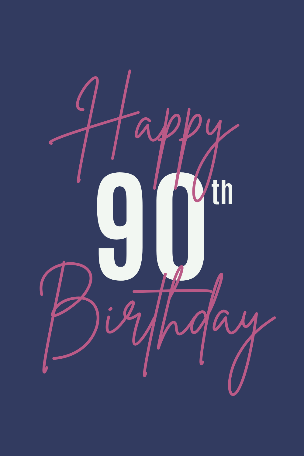 Happy 90th Birthday Card Quotes
