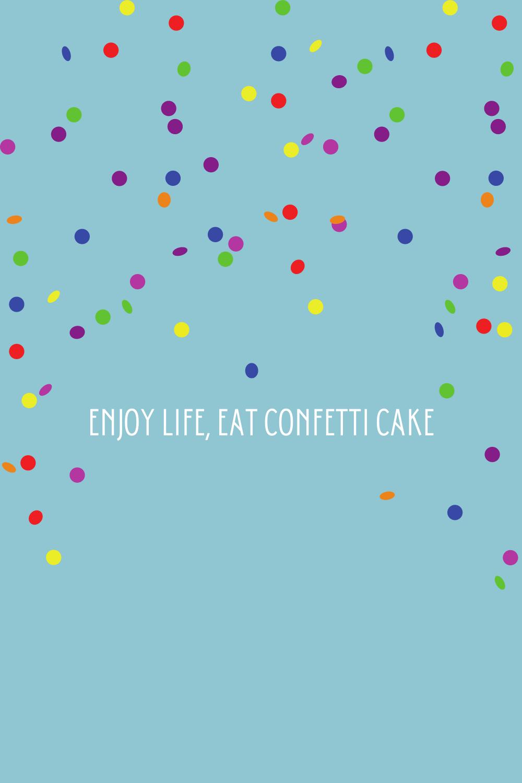 confetti captions & quotes for birthdays