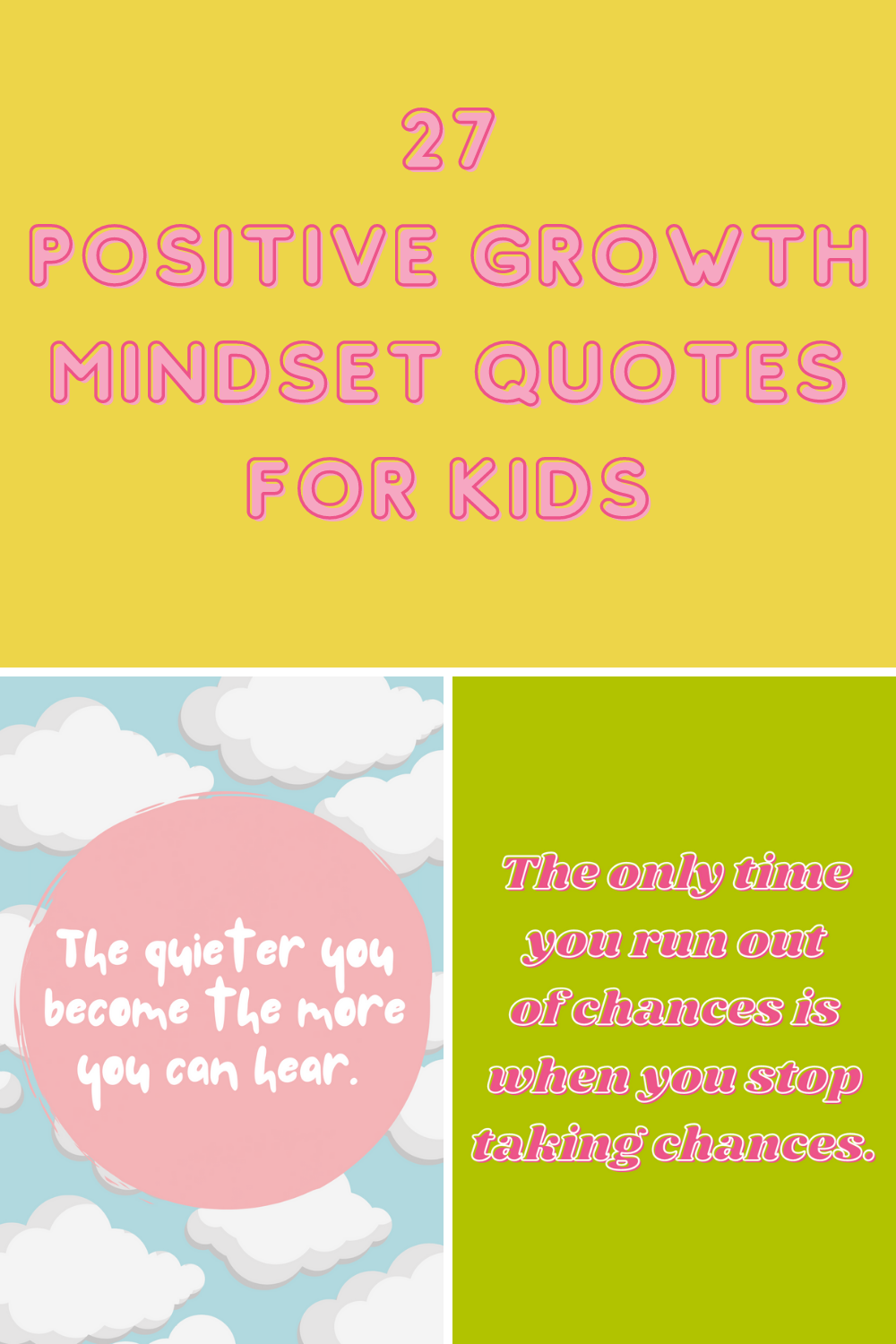 Growth Mindset Quotes for Kids