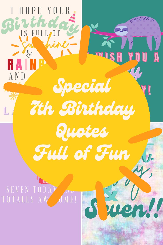 7th Birthday Quotes