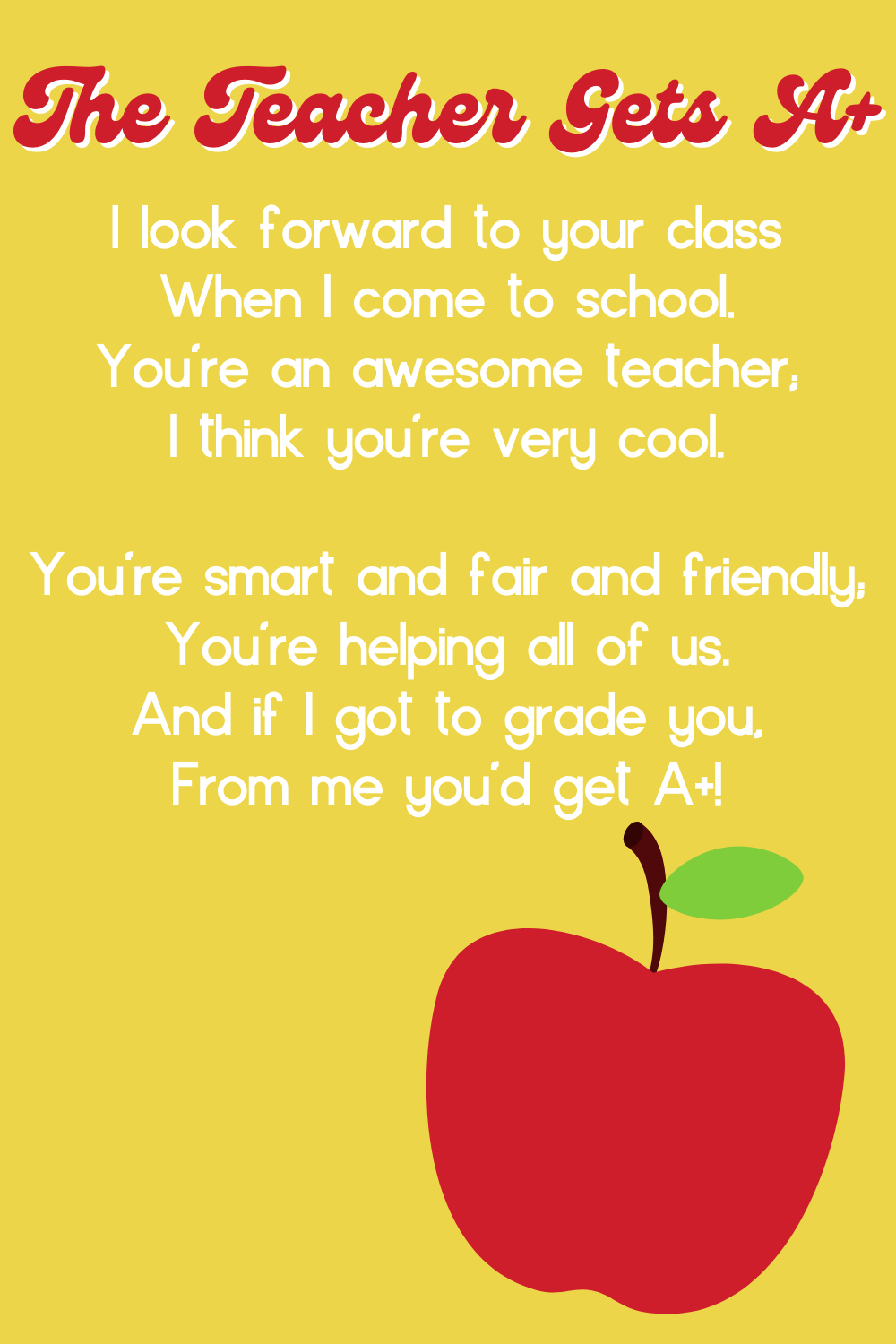 Thoughtful Teacher Appreciation Week Quotes In Poem Form