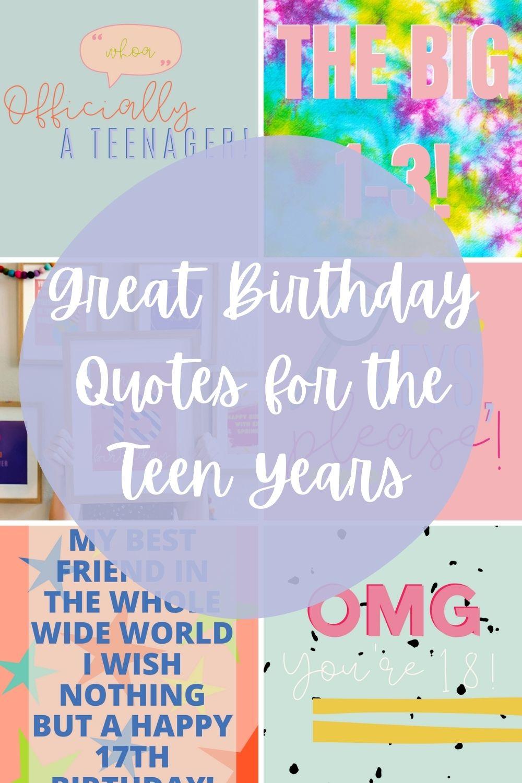 Teen Birthday Quote Ideas