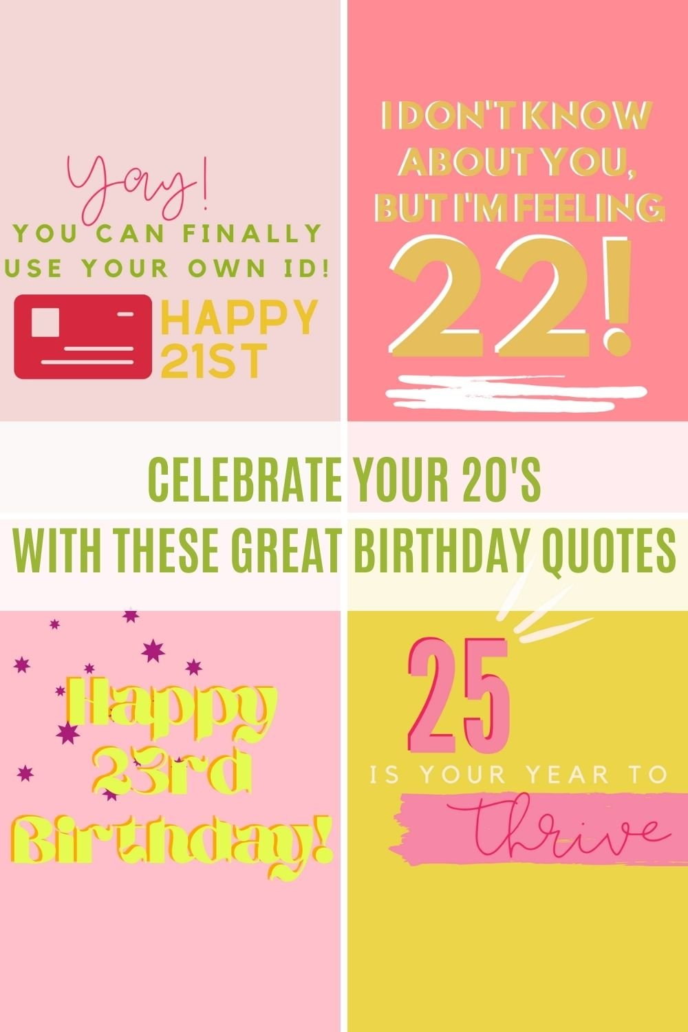 Best Birthday Quotes For Your 20's