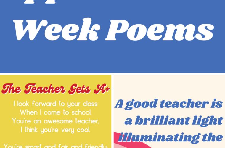 Teacher Appreciation Week Poems